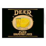 1930s Deer Brand Grapefruit Juice label Card