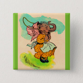 1930s dressed elephant playing jump rope button
