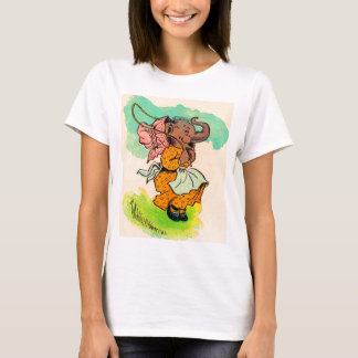 1930s dressed elephant playing jump rope T-Shirt