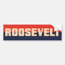 1930s Era FDR Roosevelt Bumper Sticker