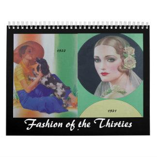 1930's Fashionable Women Calendars