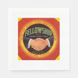 1930s Fellowship Orange County Citrus label Napkin