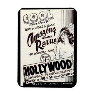 1930s Hollywood Cabaret Restaurant ad Magnet