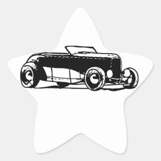 1930s Hotrod Star Sticker