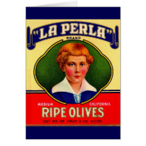 1930s LaPerla Olives label