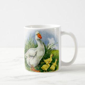 1930s mama duck and ducklings coffee mug