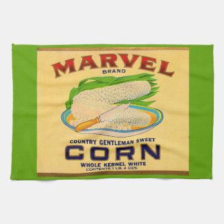 1930s Marvel canned corn label Kitchen Towel