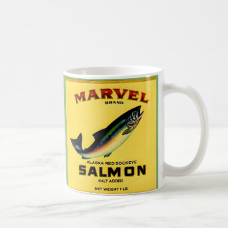 1930s Marvel salmon can label Coffee Mug