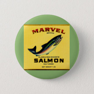 1930s Marvel salmon can label Pinback Button