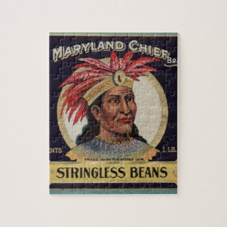 1930s Maryland Chief Stringless Beans label Jigsaw Puzzle