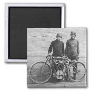 1930's Motorcycle Racer Magnet