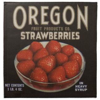 1930s Oregon Strawberries Napkin