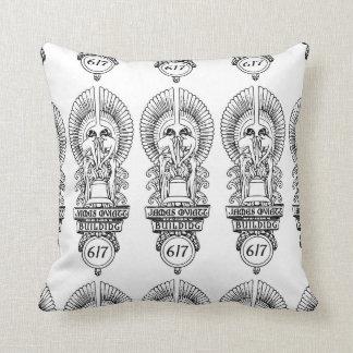 1930s Oviatt Building logo Throw Pillow