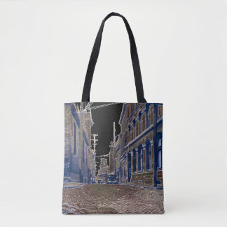 1930s Photo Cobblestone Street Quebec Canada Art Tote Bag