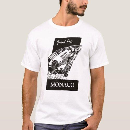 1930s Race Car Vintage Retro Grand Prix Monaco T_Shirt