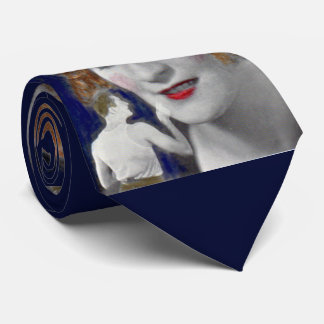1930s redhead woman and her teeny tiny husband neck tie