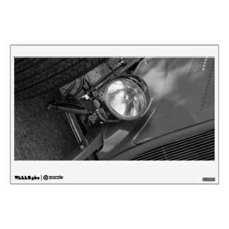 1930's Roadster Grayscale Wall Sticker