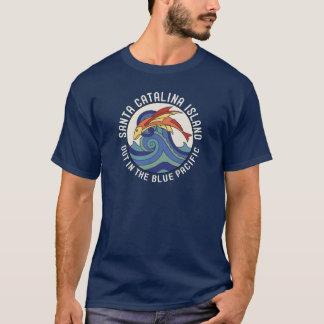 1930s Santa Catalina Island Flying Fish Tile T-Shirt