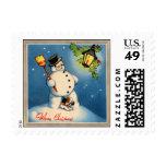 1930s Snowman Stamp