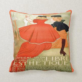 1930's Streets of Paris Vintage Throw Pillow