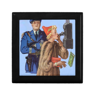 1930s traffic cop and rich lady arrestee jewelry box