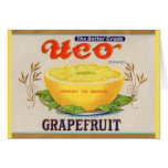 1930s Uco Brand Grapefruit label Card