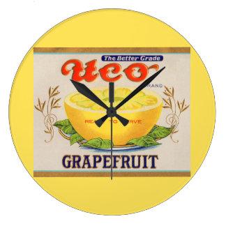1930s Uco Brand Grapefruit label Large Clock