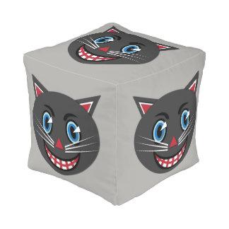 1930's Vintage Black Cat Cube Pouf