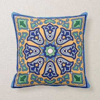 1930s Vintage Catalina Island Tile Design Pillow