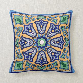 1930s Vintage Catalina Island Tile Design Throw Pillow