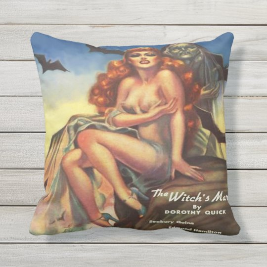 1930's VINTAGE PULP ILLUSTRATION Throw Pillow