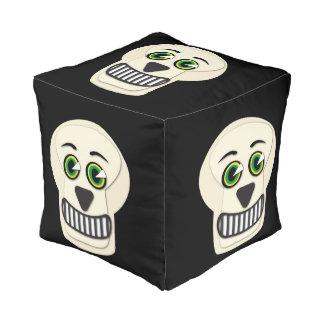 1930's Vintage Skull Cube Pouf
