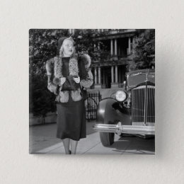 1930s Women's Fashion Button