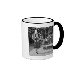 1930s Women's Fashion Ringer Coffee Mug