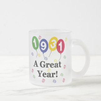 1931 A Great Year Birthday Frosted Glass Coffee Mug