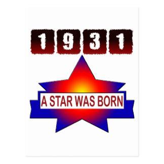 1931 A Star Was Born Postcard