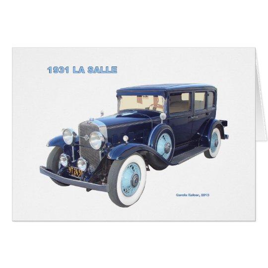 1931 CADILLAC LA SALLE CARD