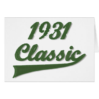 1931 Classic Greeting Card