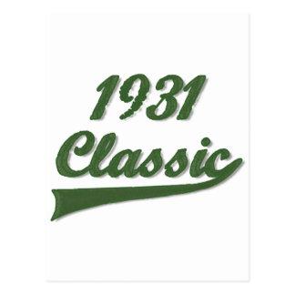1931 Classic Postcard