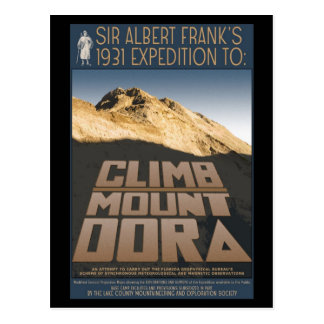 1931 Expedition to Climb Mount Dora post card