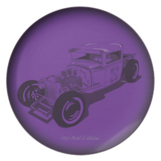 1931 Ford Model A Pickup in Purple Dinner Plates