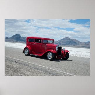 1931 Ford Sedan Bonneville Salt Flats Print