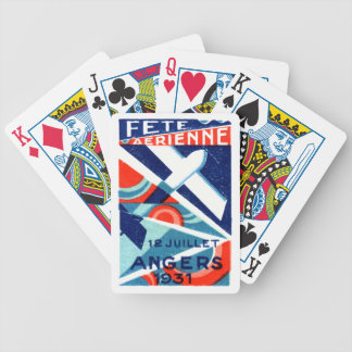 1931 French International Air Show Bicycle Playing Cards