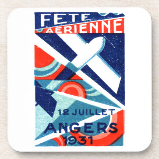 1931 French International Air Show Drink Coaster