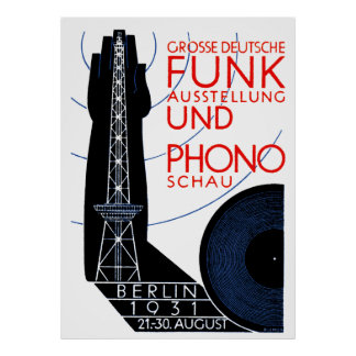 1931 German Radio and Music Expo Poster