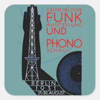 1931 German Radio and Music Expo Square Sticker