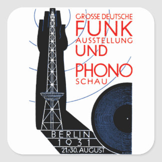 1931 German Radio and Music Expo Square Stickers