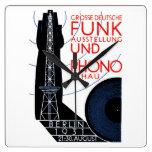1931 German Radio and Music Expo Square Wallclocks