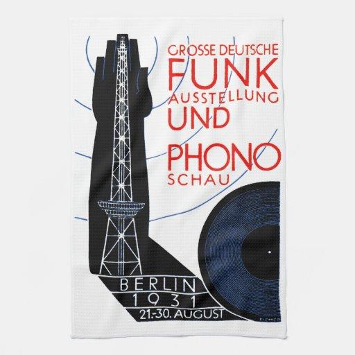 1931 German Radio and Music Expo Towel