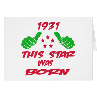 1931 this star was born greeting card